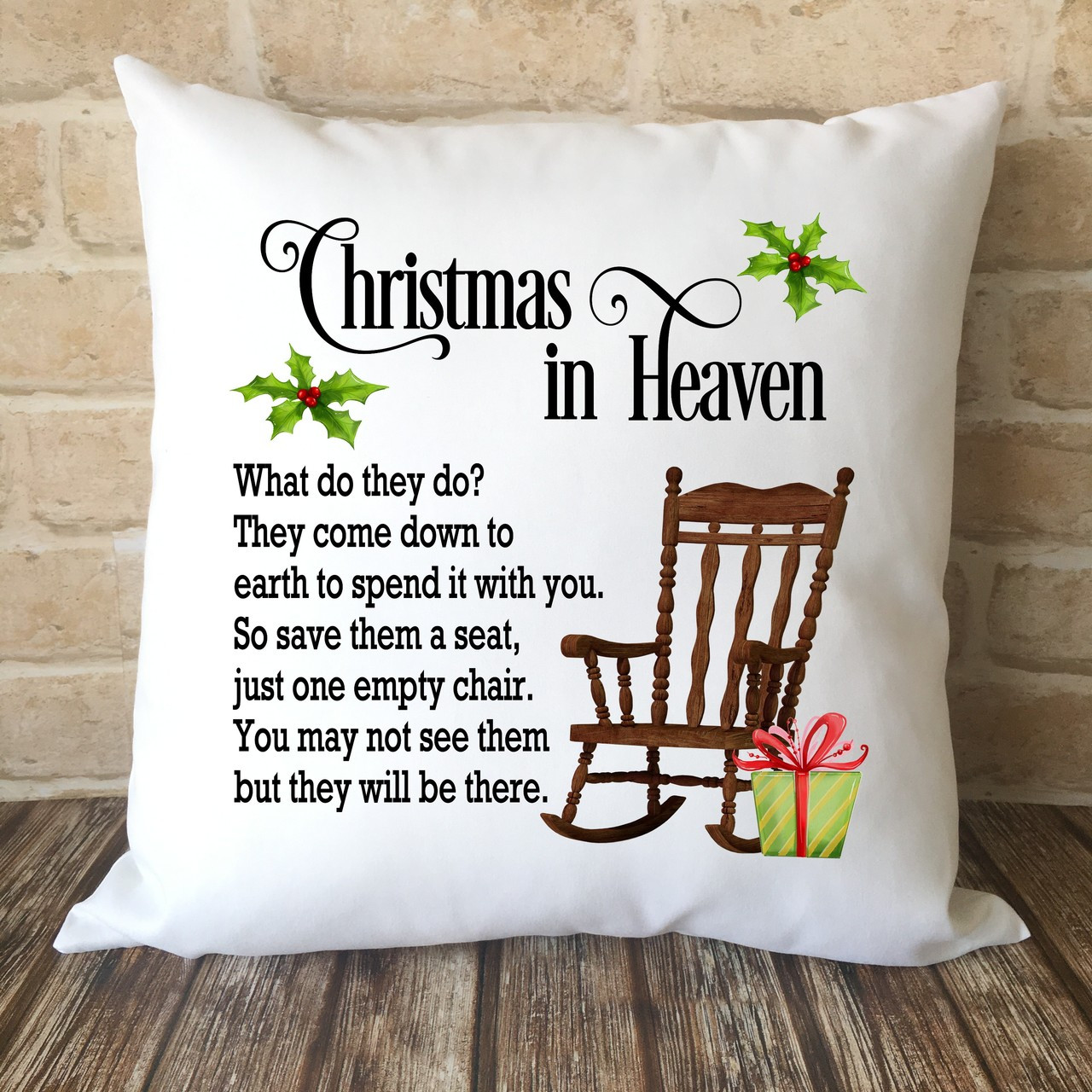 Christmas In Heaven.Christmas In Heaven Cushion Cover