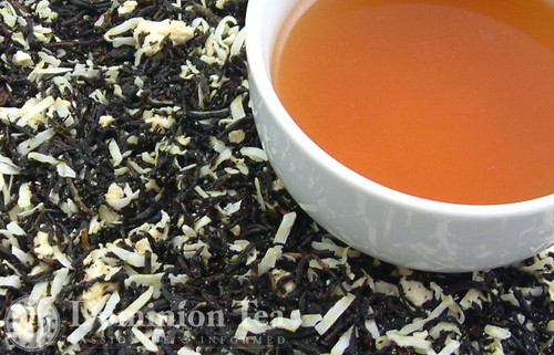 Coconut Cake Tea Dry Leaf and Liquor
