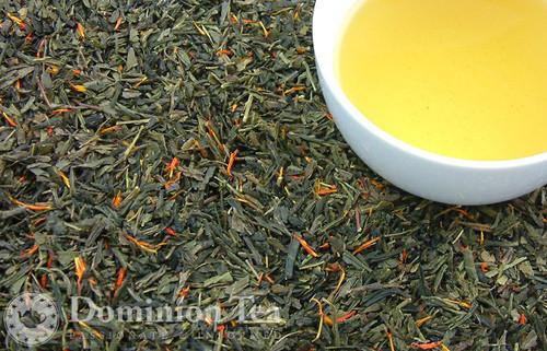 Pear Raspberry Green Tea - Loose Leaf and Infused Liquor