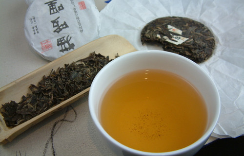 2015 Menghai Brown Mountain Puerh  - Brew and loose leaf