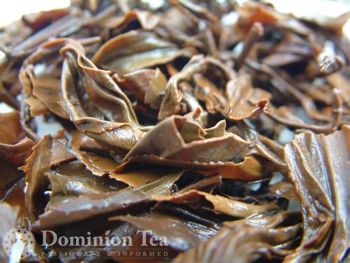 Ruby Oolong Tea Infused Leaf