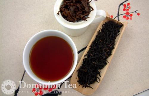 Lotus Blossom Black Tea Dry Leaf and Liquor