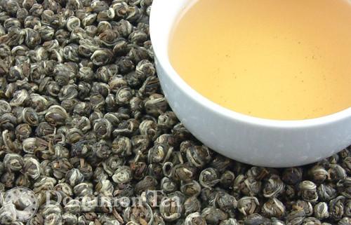 Jasmine Dragon Tears Dry Leaf and Liquor