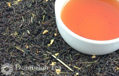Lemon Drop Tea Dry Leaf and Liquor