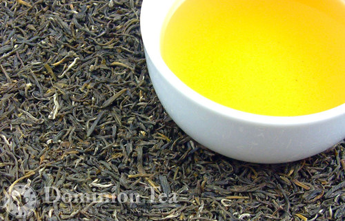 Jasmine Green Tea Dry Leaf and Liquor