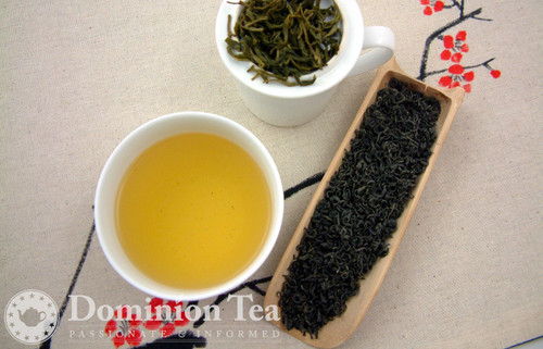 Vietnamese Green Tea Dry Leaf and Liquor