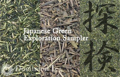 Japanese Green Tea Exploration Sampler - Kukicha, Hojicha, Konacha | Dominion Tea