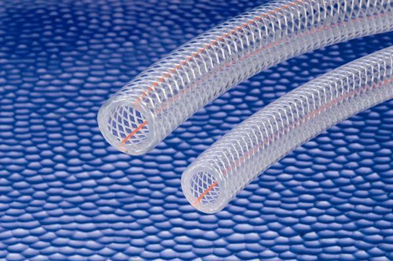 "1 1/2"" Sanitary - 3150 Kuri-Tec Clear Braid PVC Hose (Quantity = Ft. Length)"