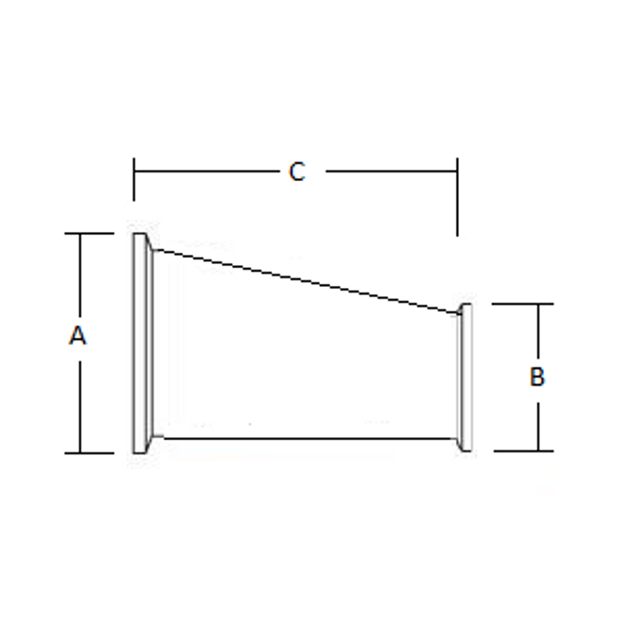 Westco Sanitary - Reducer Offset With Clamp Ends