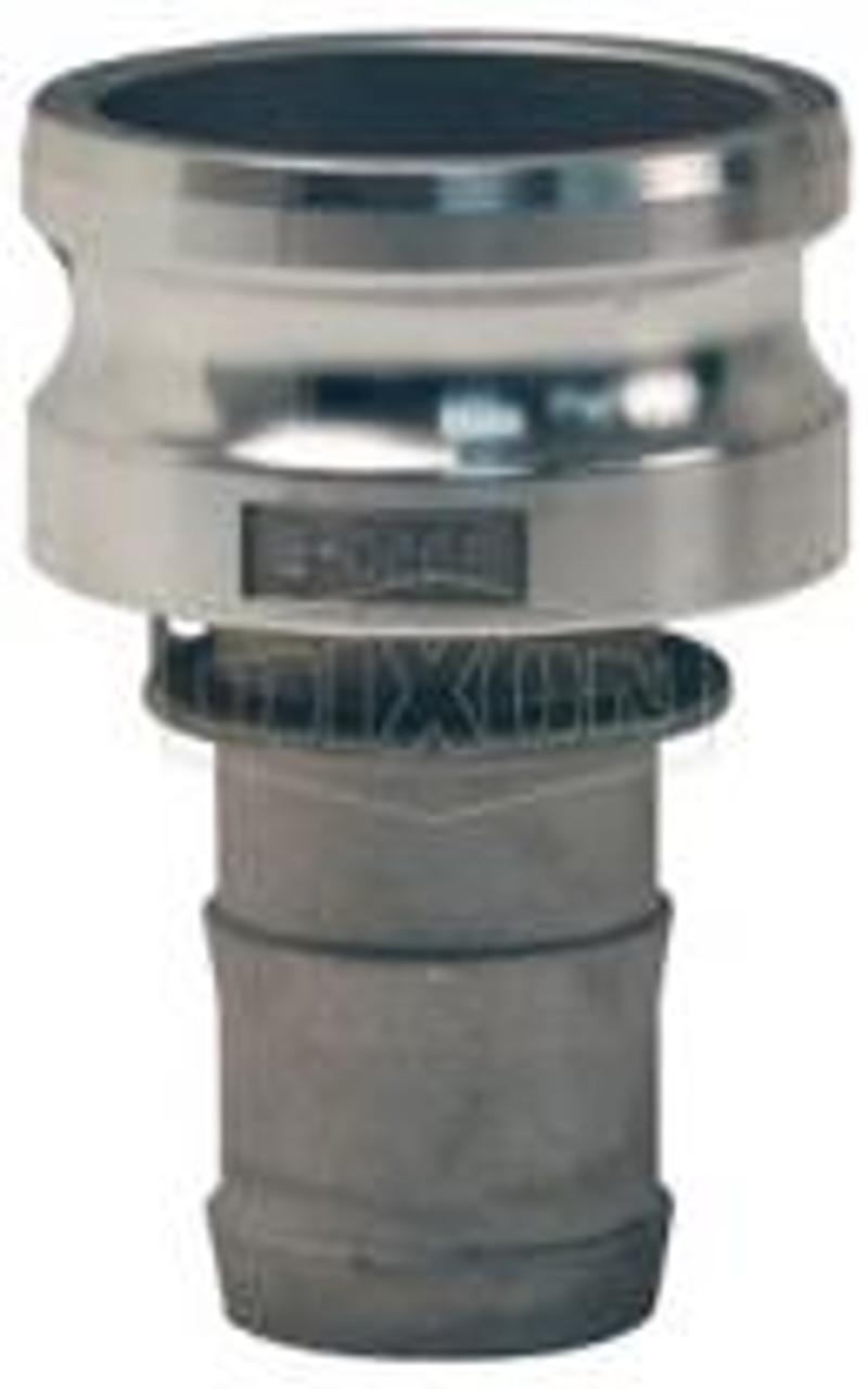 """A 1.5"""" male adapter-hose skank Cam Lock manufactured using aluminum."""