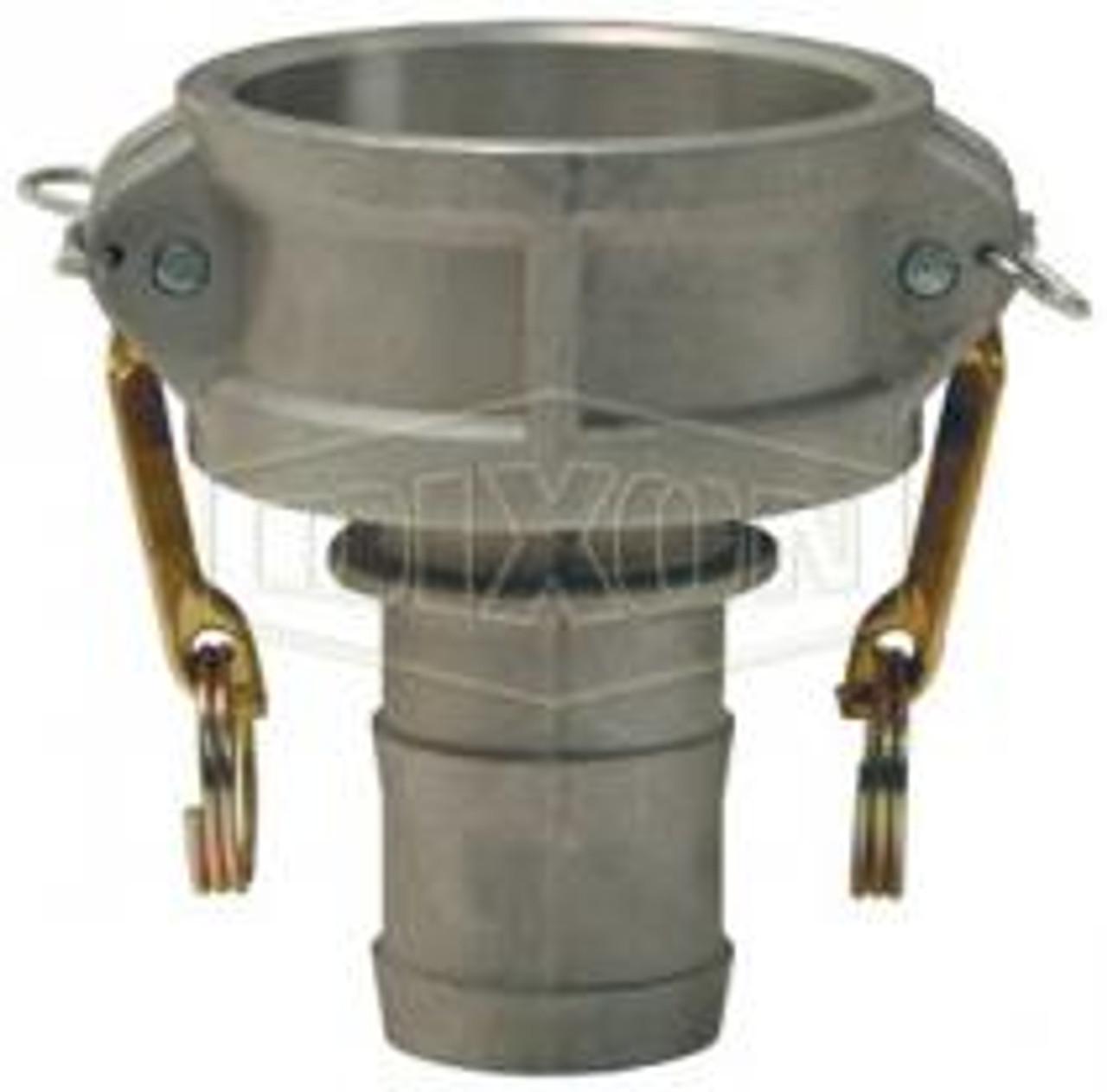 "A 3"" female coupler-hose skank Cam Lock manufactured using aluminum."