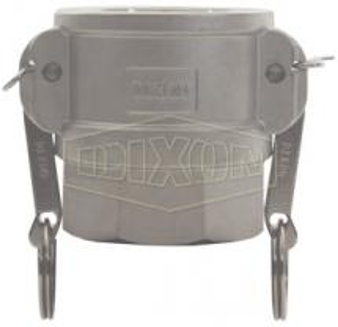"""A 0.75"""" female coupler-female thread Cam Lock manufactured using stainless steel."""