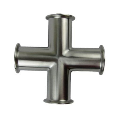Westco Sanitary 4 Way Tee - All Clamps Ends