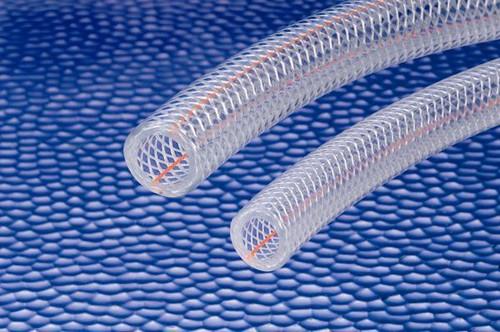 "2"" Sanitary - 3150 Kuri-Tec Clear Braid PVC Hose (Quantity = Ft. Length)"