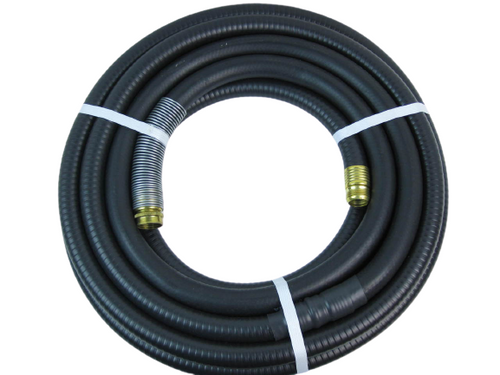 HVLP 15' Black Turbine Air Hose with Spring Guard HLVP 89489300227X