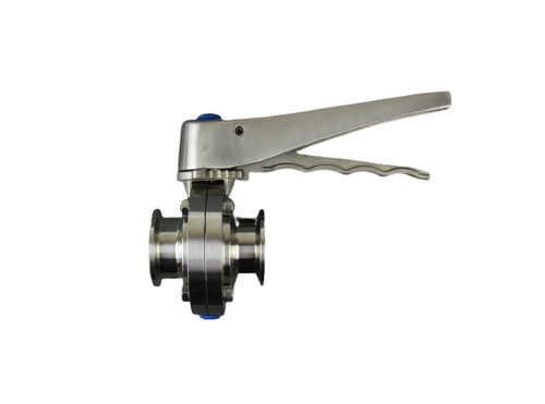 Westco Sanitary Butterfly Valve with Clamp Ends w/ Metering Valve