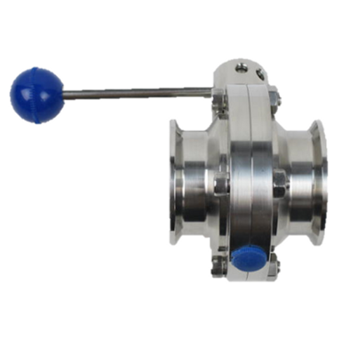Westco Sanitary fittings butterfly valve with clamp ends