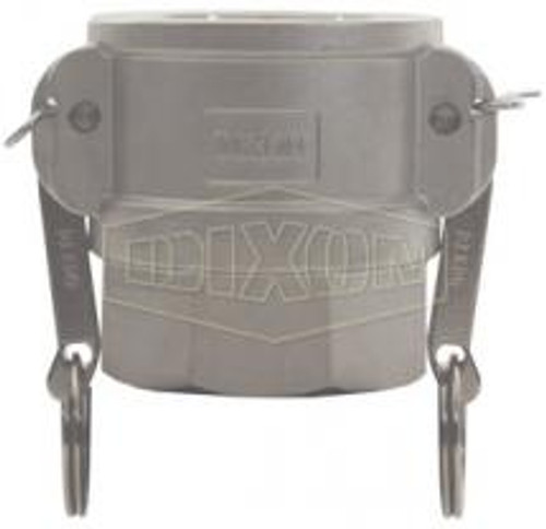 """A 1.5"""" female coupler-female thread Cam Lock manufactured using stainless steel."""