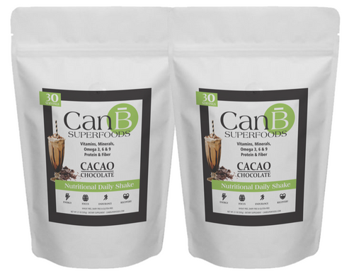 2 BAGS - Chocolate - CANB SUPERFOODS -- 60 SCOOPS (2 Month Supply SALE!)
