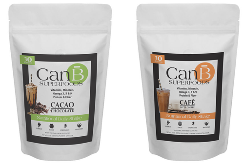 1 BAG - Coffee Mocha & 1 BAG - Chocolate CANB SUPERFOODS - 60 SCOOPS -2 Month Supply