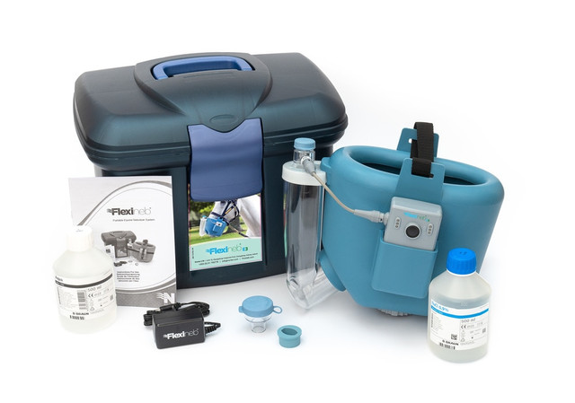 Flexineb E3 Portable Equine Nebulizer Complete System - ADULT - BLUE