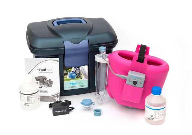 Flexineb E3 Portable Equine Nebulizer Complete System - ADULT - PINK
