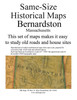 Set of 18 same size Historical Maps - Bernardston MA Old Map