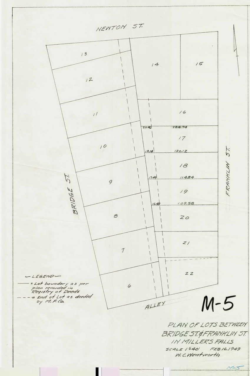 Plan of Lots Between Montague M-05 - Map (Digital Download Copy)