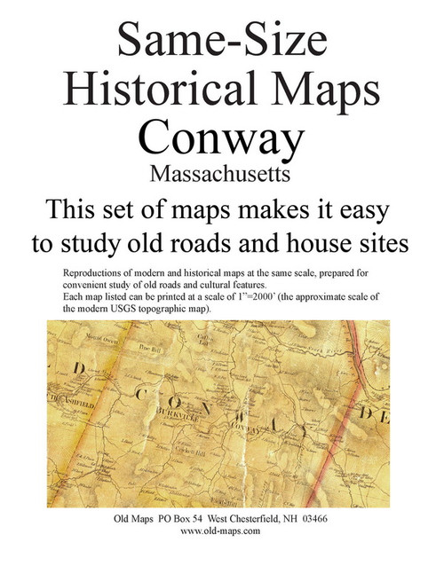 Set of 24 same size Historical Maps - Conway MA Old Map