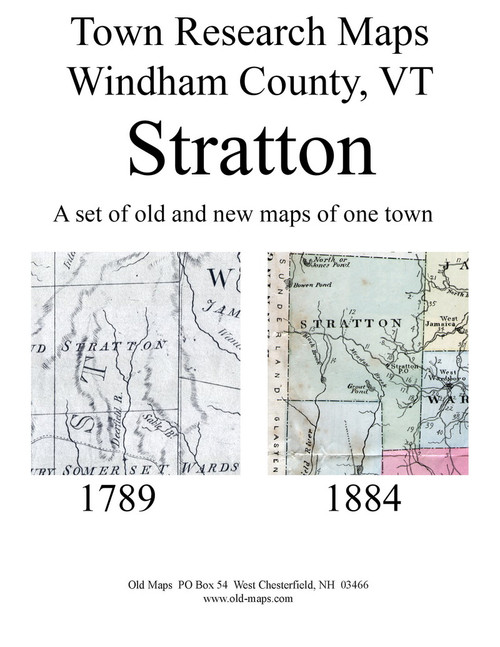 Set of 12 Historical and Modern Maps - Stratton VT Old Map