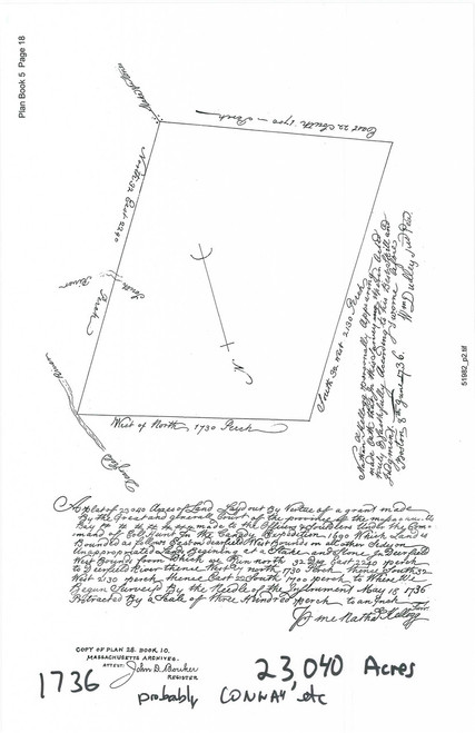 Conway 1736 - Old Town Map -