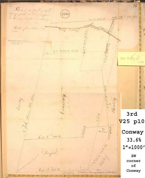 Conway 1811 - Old Town Map -