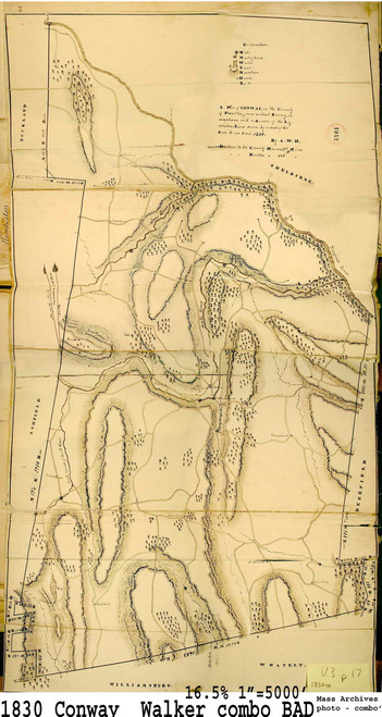 Conway 1830 - Old Town Map - Mass Archives