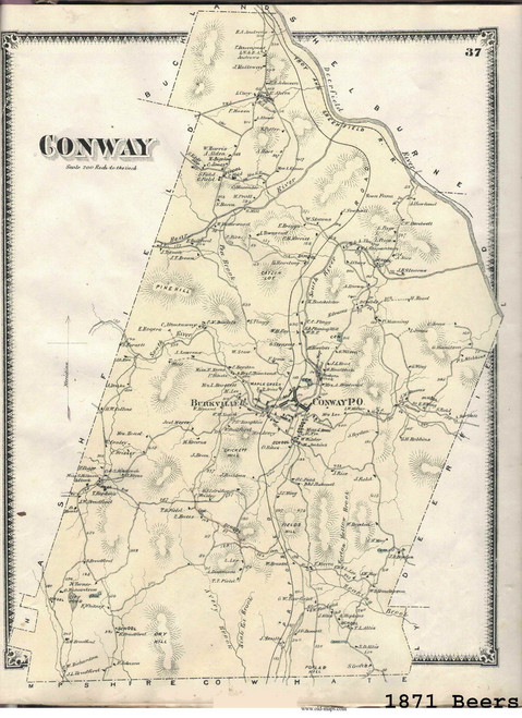 Conway 1871 - Old Town Map -