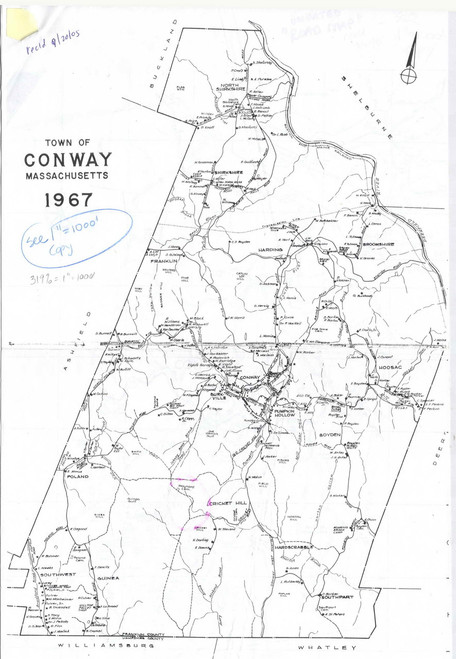 Conway 1967 - Old Town Map -