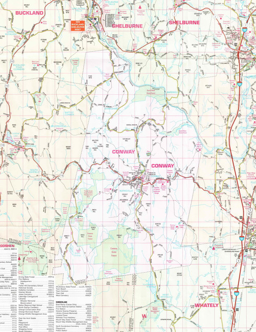 Conway 2005 - Old Town Map -