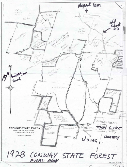 Conway 1928 - Old Town Map - Conway Forest