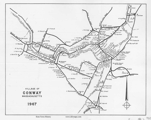 Conway 1967 - Old Village Map - Conway Vilage