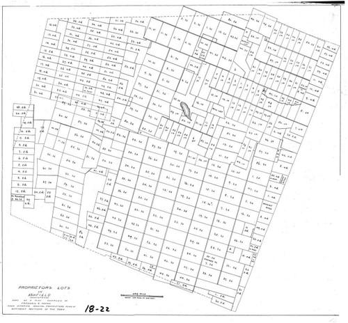 Ashfield ca1780 - Old Town Map - FDA 18-22