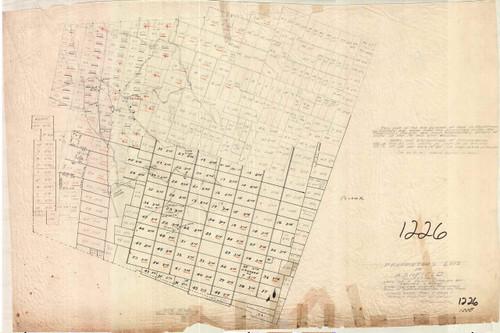 Ashfield ca1780 - Old Town Map - FDA 1226
