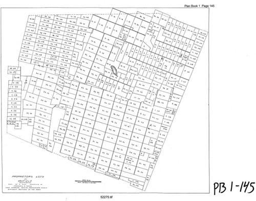 Ashfield ca1780 - Old Town Map - PB 1-145