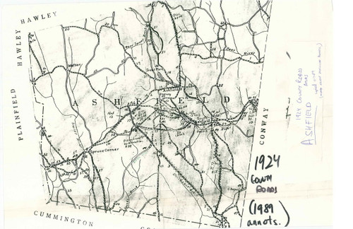 Ashfield 1924-1989 - Old Town Map