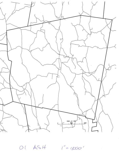 Ashfield 2001 - Old Town Map - roads