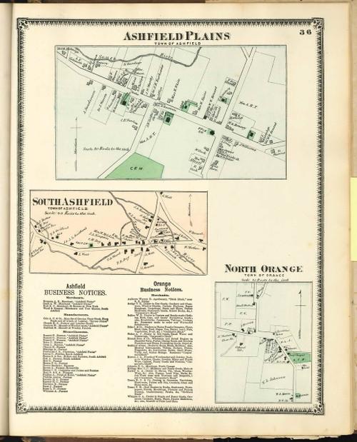 Ashfield Villages 1871 - Old Village Map - from Atlas