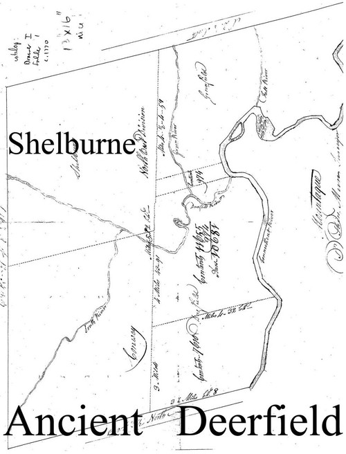 Shelburne ca 1770 - Old Town Map Reprint