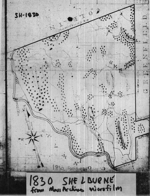 Shelburne 1830 - Old Town Map Reprint