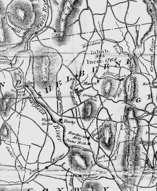 Shelburne 1832 - Old Town Map Reprint