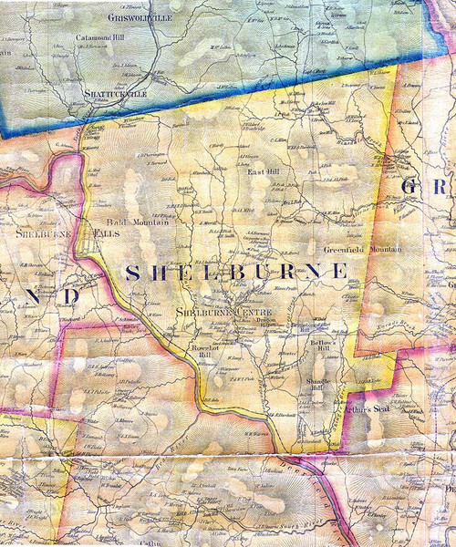 Shelburne 1858 - Old Town Map Reprint