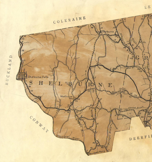 Shelburne 1924 - Old Town Map Reprint