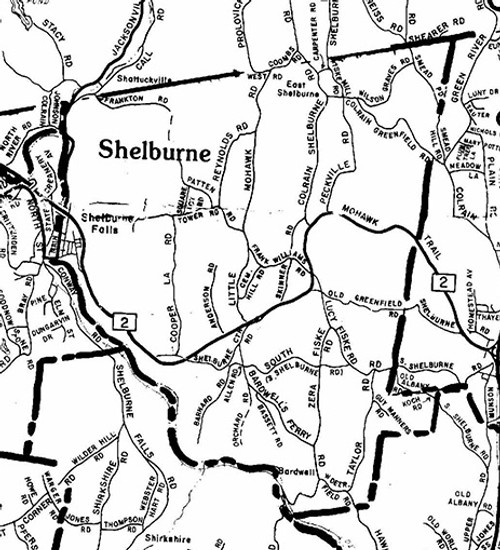 Shelburne ca 1988 - Old Town Map Reprint